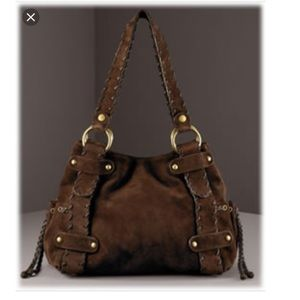 Kooba Sienna Large Brown Suede Hobo Purse